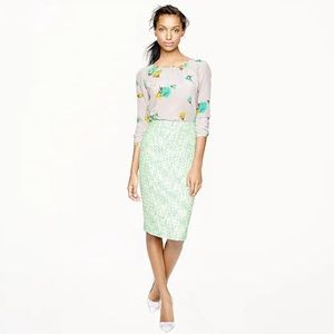 J. CREW NO.2 pencil skirt clover tweed